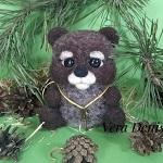 шерстяная игрушка медвеженок
