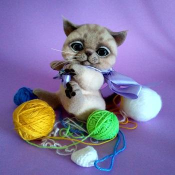 купить котенка из шерсти