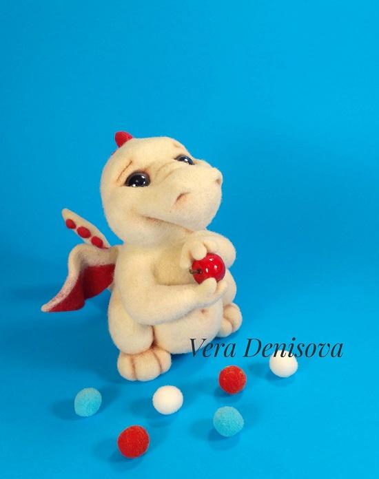Валяная игрушка дракончик