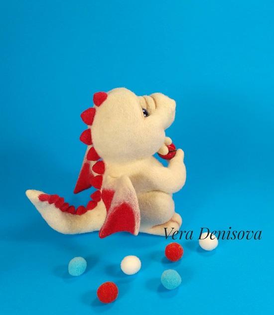 мягкая игрушка дракончик из шерсти