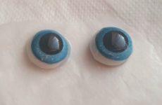 Примеряем глазки и мех для Ёжика