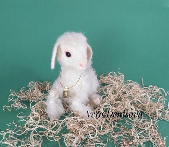 игрушка белый барашек