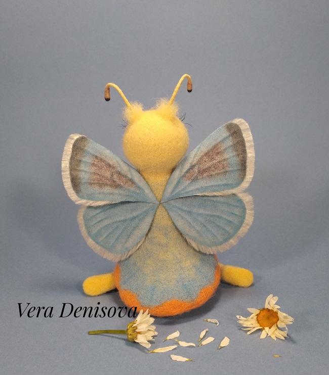 игрушка бабочки валяная