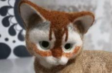 Продолжаю валять реального котёнка из шерсти